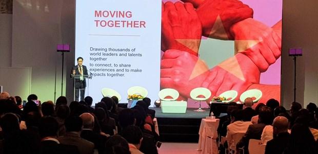 越南全球领导者论坛首次在巴黎举行 hinh anh 1