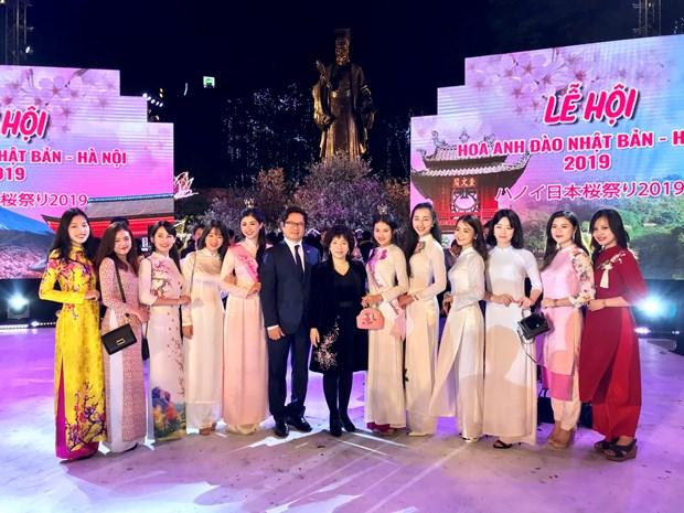 河内日本樱花节:加深越日文化交流 增进两国民间感情 hinh anh 1