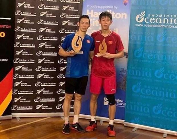 越南羽毛球名将阮进明在新西兰夺得两次冠军 hinh anh 1