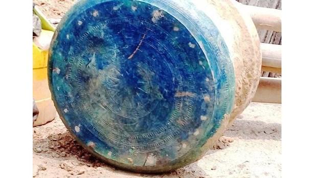 越南老街省发现一面古铜鼓 hinh anh 2