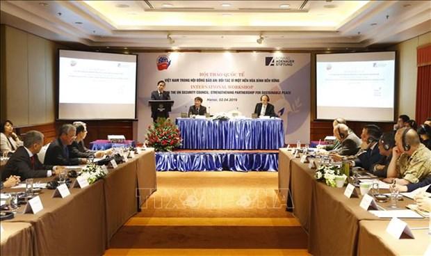 联合国安理会中的越南:致力于可持续和平的伙伴 hinh anh 1