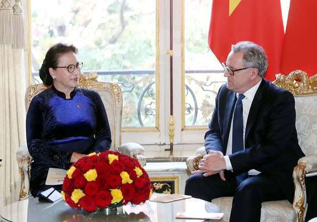 越南国会主席阮氏金银同法国国民议会议长举行会谈 hinh anh 2
