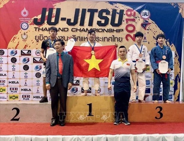 越南柔术选手在泰国柔术公开赛上夺得金牌 hinh anh 1