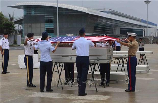 越南向美国移交在战争中失踪的美国军人遗骸 hinh anh 1