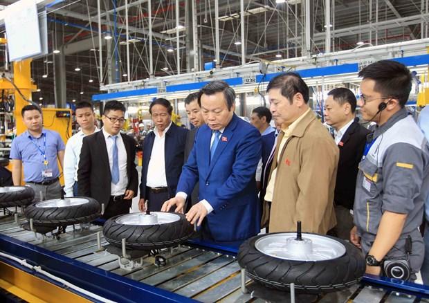 越南国会副主席冯国显视察海防市沥县国际港口和参观VinFast生产厂 hinh anh 2