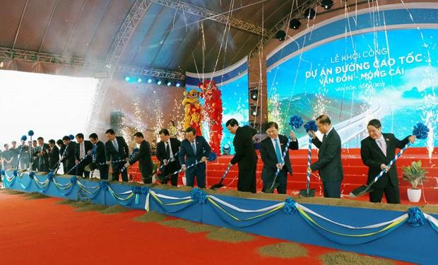 云屯-芒街高速公路正式开工建设 hinh anh 1