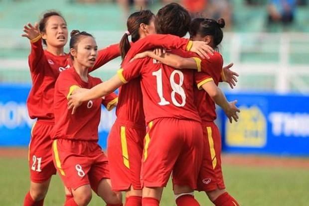 2020年东京奥运会女足亚洲区预选赛:越南队以2比0击败乌兹别克斯坦队 hinh anh 1