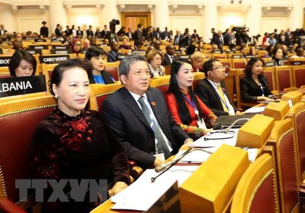 越南国会主席阮氏金银出席IPU-140:发挥越南国会在各国议会联盟的作用 hinh anh 1