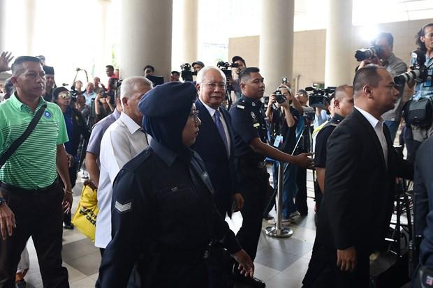 马来西亚前总理纳吉布涉嫌贪腐案件开审 hinh anh 1