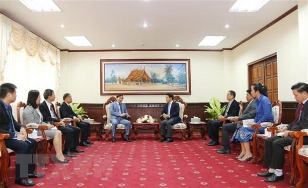 越南驻老挝大使向老挝外交部致以传统新年祝福 hinh anh 2