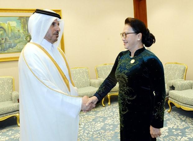 越南国会主席阮氏金银会见卡塔尔首相阿勒萨尼 hinh anh 1