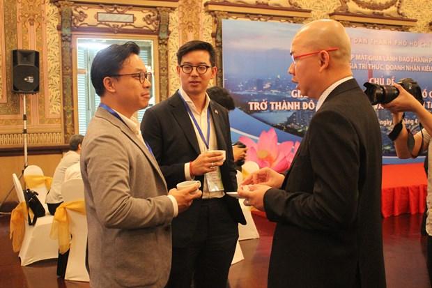 旅外越侨企业家和知识分子为胡志明市创新城市建设建言献策 hinh anh 2