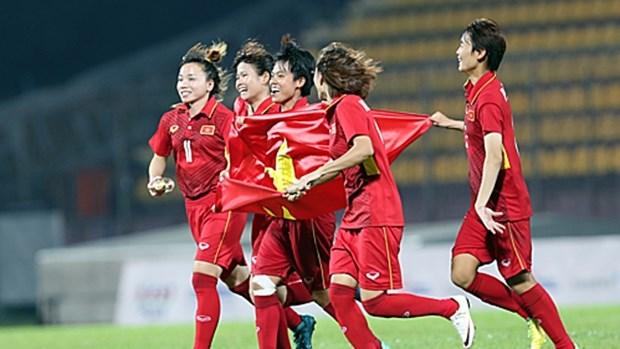 2020年东京奥运会女足亚洲区第二轮预选赛:越南女足队2-1击败中国香港女足队 hinh anh 1