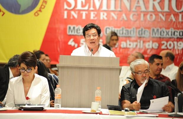 越南共产党代表团出席在墨西哥举行的国际研讨会 hinh anh 1