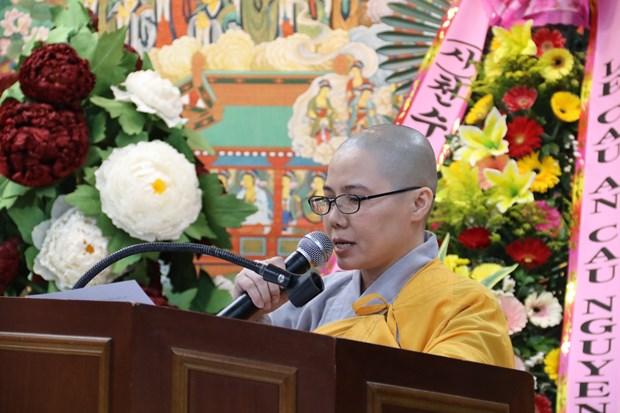 旅居韩国越南佛教信徒协会心系祖国家乡海洋岛屿 hinh anh 1