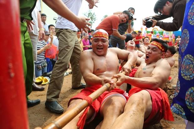 越南坐地拔河荣获UNESCO颁发的非物质文化遗产证书 hinh anh 2
