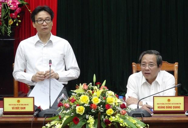 政府副总理武德儋赴广平省调研 hinh anh 1