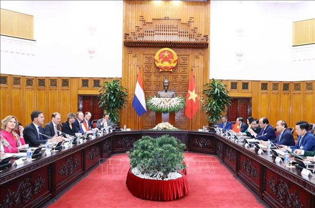 越南政府总理阮春福与荷兰首相马克·吕特举行会谈 hinh anh 2
