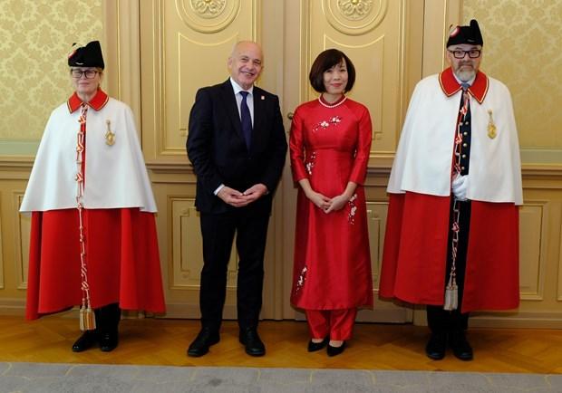 瑞士总统高度评价越南在瑞士对外政策中的地位 hinh anh 1