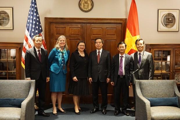 越南共产党高级代表团对美国进行工作访问 hinh anh 1