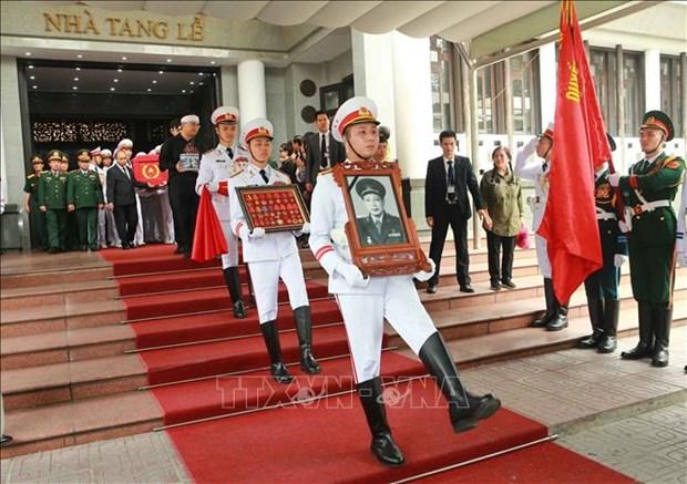 原越南部长议会副主席同士元国葬隆重举行 hinh anh 2