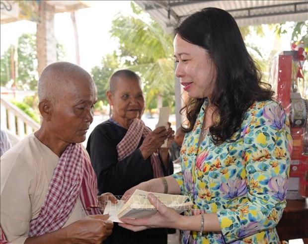 高棉族同胞欢庆2019年传统新年 hinh anh 1