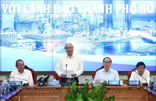 政府总理阮春福:胡志明市继续成为全国重要经济火车头 hinh anh 1