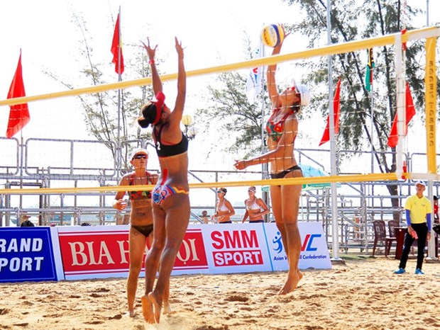 来自10个国家和地区的19支队将参加第四次亚洲女子沙滩排球比赛 hinh anh 1