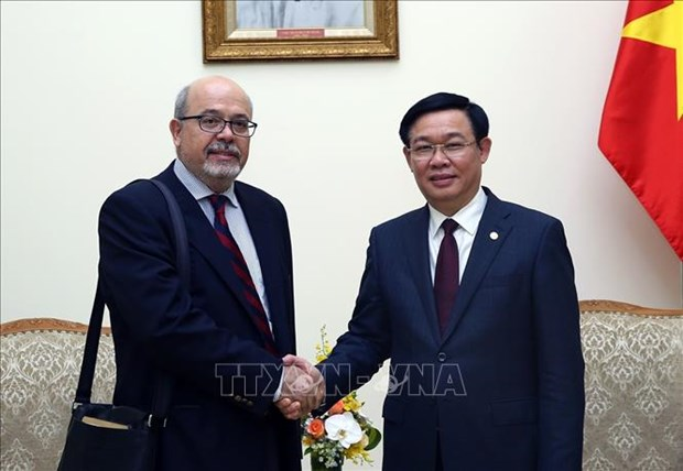 政府副总理王廷惠会见国际货币基金组织代表团 hinh anh 1