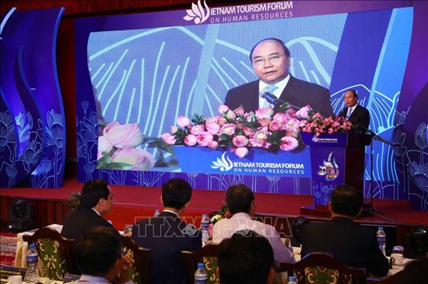 阮春福总理出席2019年越南旅游业人力资源论坛 hinh anh 1