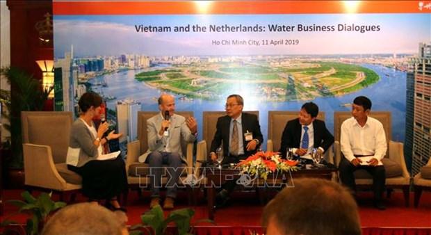 越南与荷兰加强九龙江三角洲水源管理合作 hinh anh 1