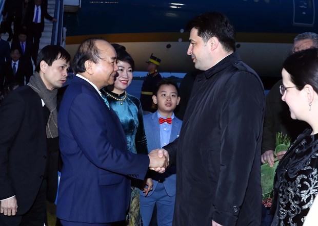 阮春福开始对罗马尼亚进行正式访问 hinh anh 2
