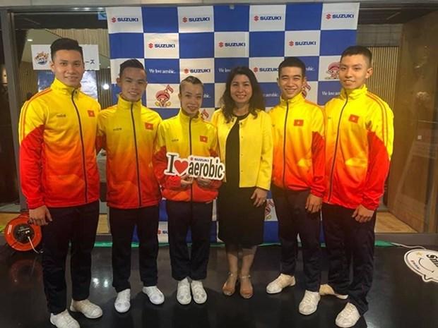 越南体育团在世界健美操锦标赛荣获三枚金牌 hinh anh 1