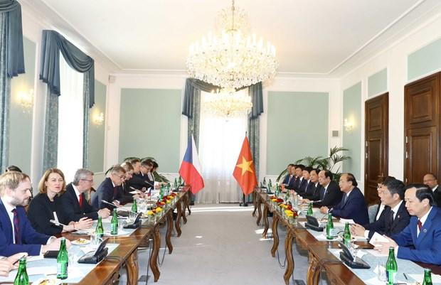 捷克共和国总理主持仪式 欢迎越南政府总理阮春福访问 hinh anh 3