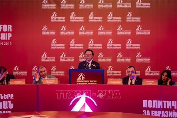 黄平君率团赴亚美尼亚出席亚欧政党国际会议 hinh anh 1