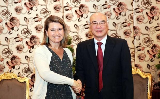 美国国会议员助理代表团访问胡志明市 hinh anh 1