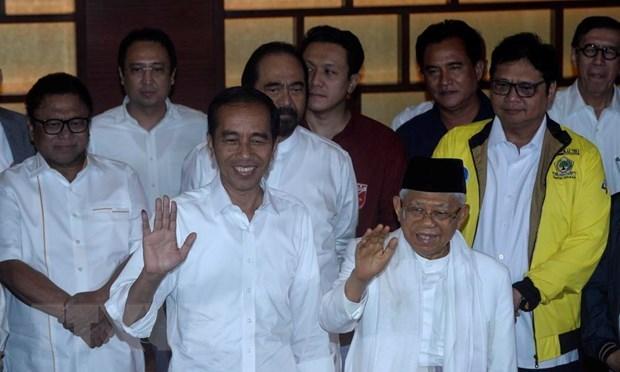 越南领导人致电祝贺印尼大选成功举行 hinh anh 1