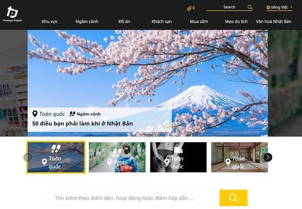 日本著名旅游信息网站新增越语版面 hinh anh 1