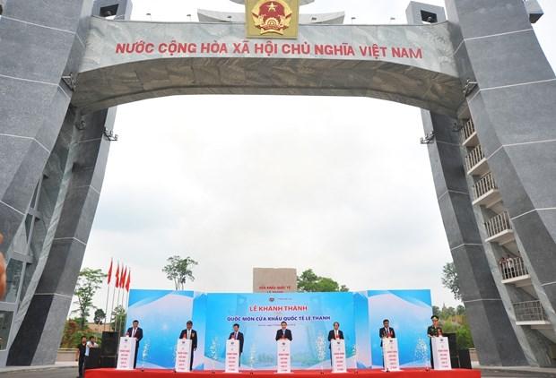 嘉莱省德机县丽清国际口岸正式开通 助力外交活动与贸易往来 hinh anh 1