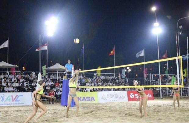 2019年亚洲女子沙滩排球比赛在芹苴市开幕 hinh anh 2