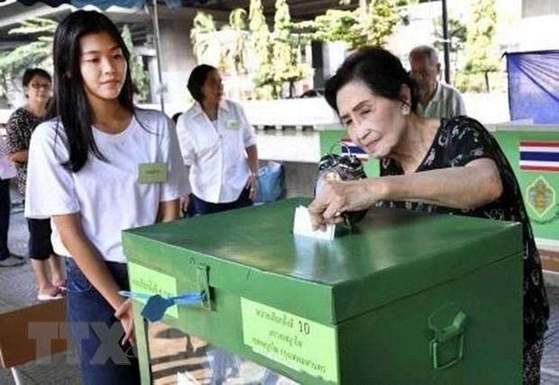 泰国在部分投票站重新进行大选投票 hinh anh 1