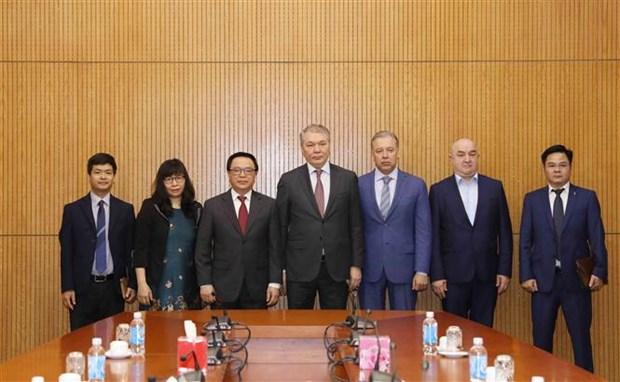 俄罗斯共产党代表团对越南进行工作访问 hinh anh 1