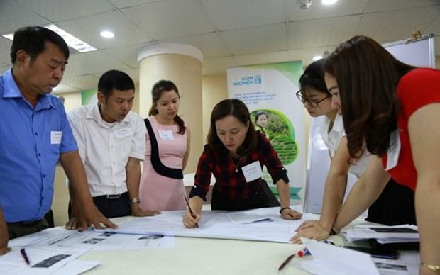 协助越南农村妇女适应气候变化 减轻自然灾害风险 hinh anh 1