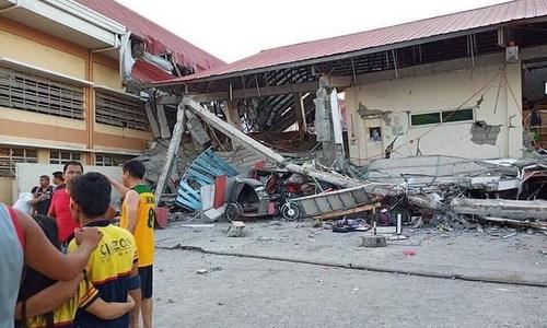 菲律宾中部发生6.3级地震 至少9人死亡 hinh anh 1