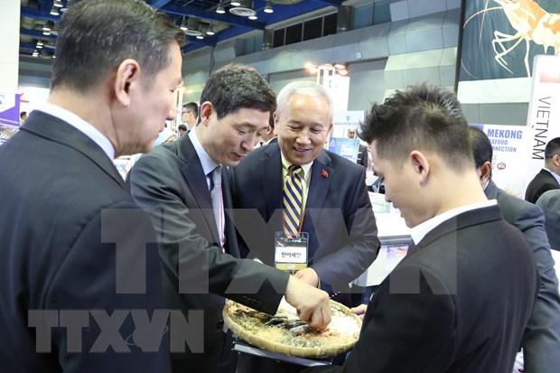 越南水产企业参加2019 年韩国首尔国际食品展 hinh anh 2