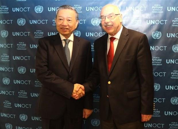 越南公安部部长苏林对美国进行正式访问 hinh anh 2