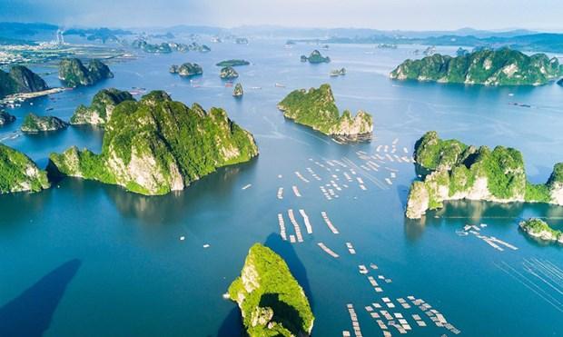 越南广宁省下龙湾跻身世界25大自然奇观行列 hinh anh 1