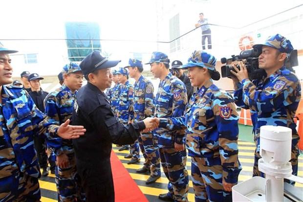 越中两国海警开展北部湾共同渔区渔业海上联合检查 hinh anh 2