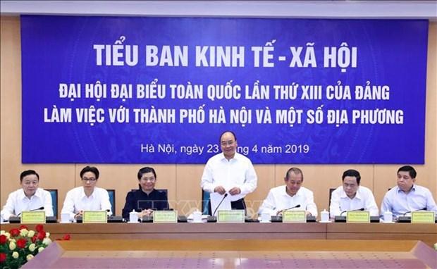 越共十三大经济社会小组与各地领导召开会议 hinh anh 2