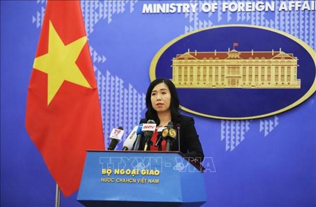 外交部发言人:越共中央总书记、国家主席将早日恢复健康并回到正常工作 hinh anh 1